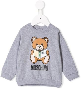 MOSCHINO BAMBINO Bear Print Sweatshirt