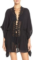 LaBlanca Women's La Blanca 'Costa Brava' Crochet Cover-Up Kimono