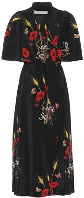 Valentino Printed silk wrap dress