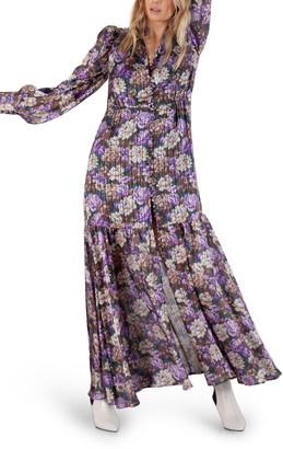 Birgitte Herskind Miley Floral Print Long Sleeve Maxi Dress