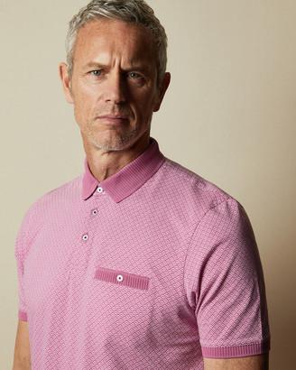 Ted Baker SCULPTT Tall cotton polo shirt