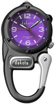 Dakota Mini Clip Microlight Carabiner, Black and Purple Pocket Watch 38589