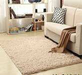 Solid Rectangle Soft Cozy Shaggy Area Rug Fluffy Thick Carpet Floor Mat for Home Living Bedroom Kids camel
