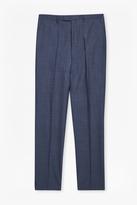 Mb Blue Wool Blend Trousers