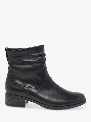 Gabor Mopsy Leather Ankle Boots, Black