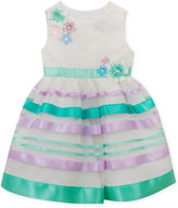 Rare Editions Flowers & Ribbons Dress, Baby Girls (0-24 months)