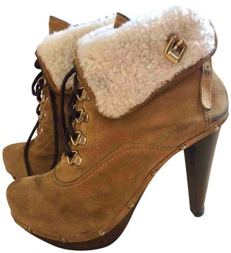 DSQUARED2 Camel Suede Ankle boots