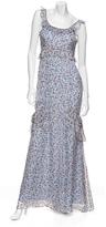 Vera Wang Silk Chiffon Ruffle Mermaid Dress