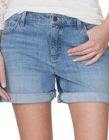 Chaps Petite Cuffed Denim Shorts