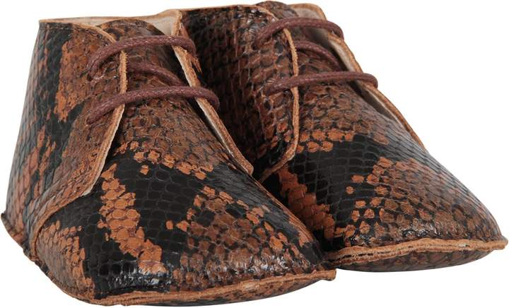 5ae4d346d97eb Brown Babyboy Shoes With Pythoned Print