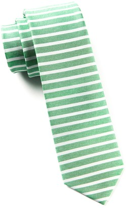 Tie Bar Unity Stripe Apple Green Tie