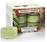 Yankee Candle Tea Light Candles, Lemongrass And Ginger, Pack of 12