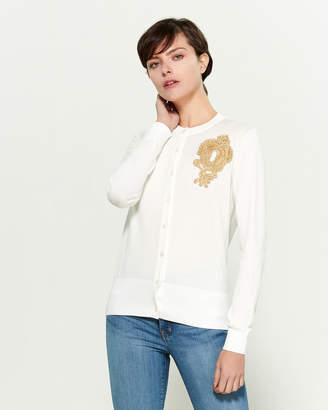 Moschino Embellished Long Sleeve Cardigan
