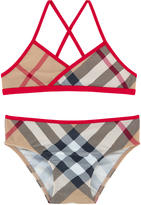 Burberry Nova check print swimsuit