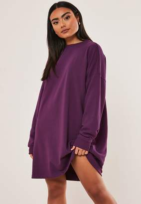 Missguided Plum Oversized Sweater Dress