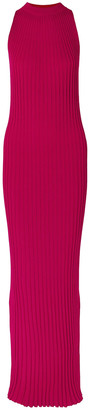Gabriela Hearst Kira Ribbed Wool Maxi Dress