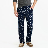 J.Crew Flannel pajama pant in rabbit print