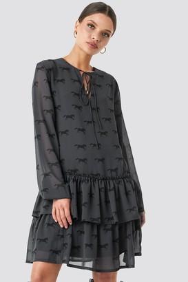 NA-KD Giddy Up Printed Short Dress