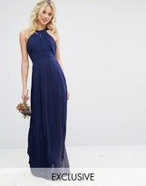 TFNC WEDDING Pleated Maxi Dress
