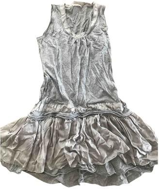 BOSS ORANGE Grey Cotton Dress for Women