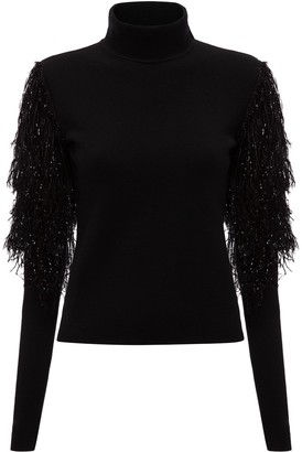 J.W.Anderson Frilled-Sleeves High-Neck Jumper