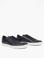 Common Projects Navy Boxed Leather Achilles Sneakers