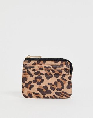 Asos DESIGN leopard print coin purse