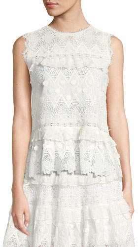 Alexis Effie Tie-Back Sleeveless Lace Top