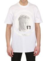 Givenchy Madonna Jersey & Satin Oversized T-Shirt