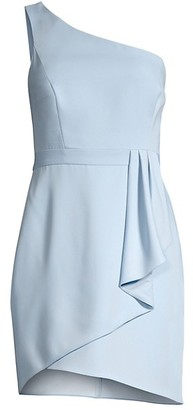 BCBGMAXAZRIA One-Shoulder Satin Cocktail Dress