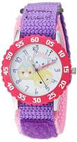 Disney Girl's 'Tsum' Quartz Stainless Steel and Nylon Casual Watch, Color:Purple (Model: WDS000115)