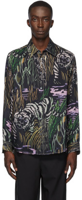 3.1 Phillip Lim Black Tiger Souvenir Shirt
