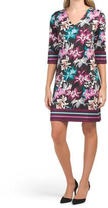 Printed Jersey Shift Dress