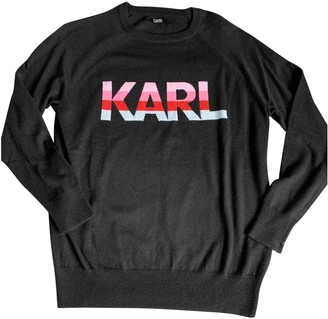 Karl Lagerfeld Paris Black Wool Knitwear for Women