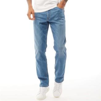 Wrangler Mens Greensboro Lightweight Straight Jeans El Zonda