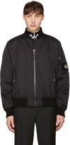 Versace Black Patch Bomber Jacket