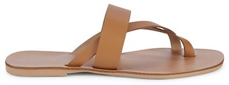 Saks Fifth Avenue Made In Italy Leather Toe Thong Sandals