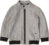 River Island Mini boys grey check bomber jacket