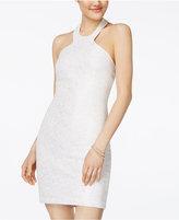 Speechless Juniors' Glitter Knit Halter Bodycon Dress, A Macy's Exclusive