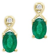 Bloomingdale's Emerald and Diamond Drop Earrings in 14K Yellow Gold - 100% Exclusive
