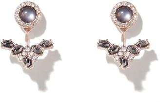 Forever New Sam Stone Diamante Under-Ear Stud Earrings - Black Diamond - 00