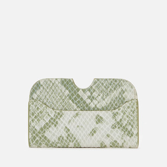 Nunoo Women's Carla Snake Card Holder - Light Green