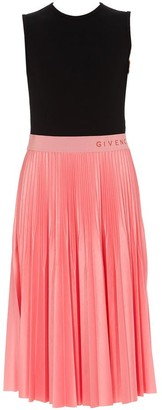 Givenchy Colour Block Pleated Dress