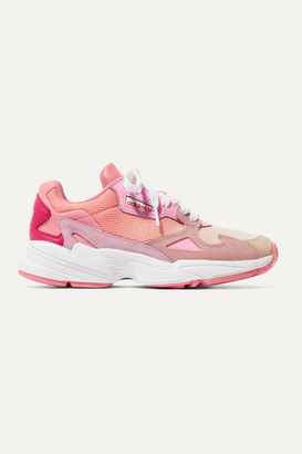 adidas Falcon Mesh, Suede, Leather And Felt Sneakers - Pink