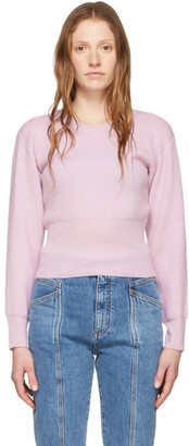 Stella McCartney Purple Cashmere Slashed Sleeve Crewneck Sweater