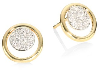 Phillips House Affair Diamond Micro Infinity Loop Stud Earrings