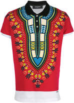 DSQUARED2 novelty print polo shirt
