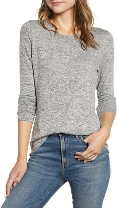 Gibson Cozy Fleece Fitted Top