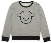 True Religion Boys' Horseshoe French-Terry Sweatshirt - Little Kid