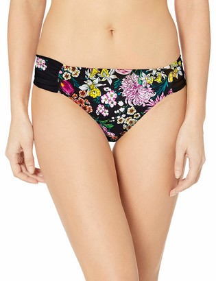 Kenneth Cole Reaction Women's Side Shirred Hipster Bikini Swimsuit Bottom
